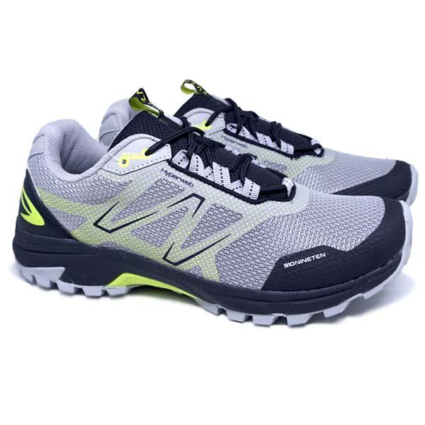 Sepatu Running 910 Yuza - Abu/Hijau Neon/Hitam