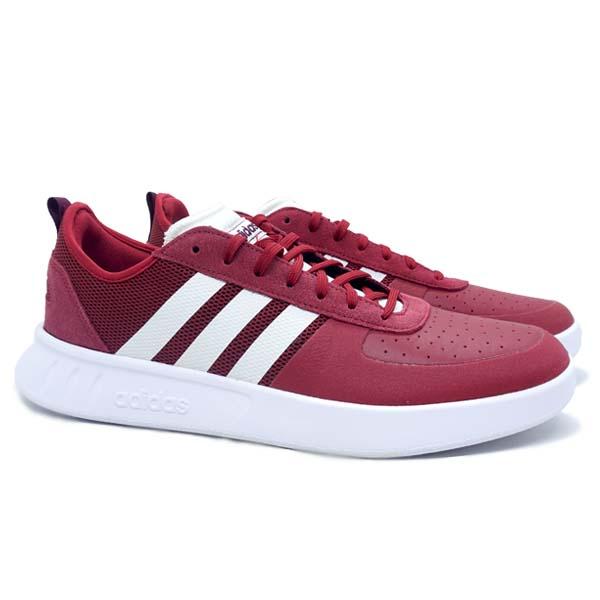 Sepatu Tennis Adidas Court80s - Active Maroon/White