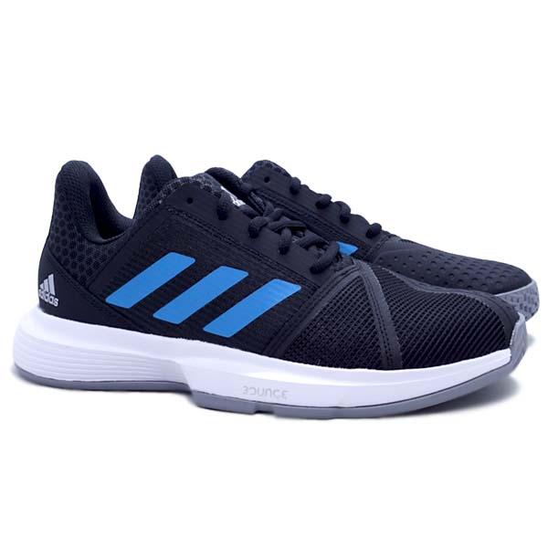Sepatu Tennis Adidas Courtjam Bounce M - Cblack/Sonaqu/Ftwwht