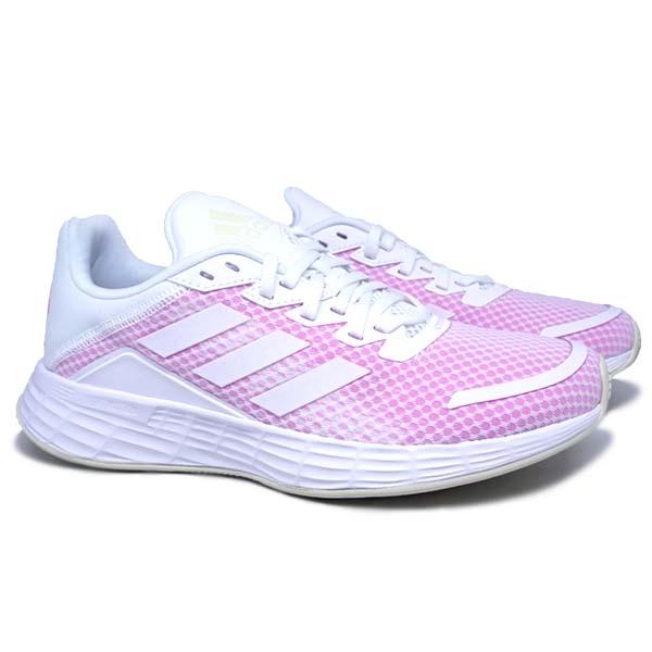 Sepatu Running Adidas Duramo SL H04631 - Cloud White/Cloud White/Screaming Pink