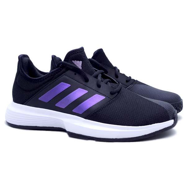 Sepatu Tennis Adidas GameCourt M - Cblack/Cblack/Ftwwht