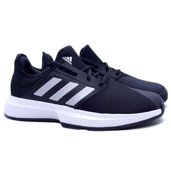 Sepatu Tennis Adidas GameCourt M - Cblack/Msilve/Ftwwht