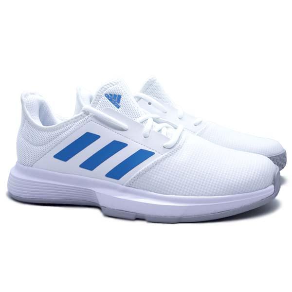 Sepatu Tennis Adidas GameCourt M - Ftwwht/Sonaqu/Gretwo