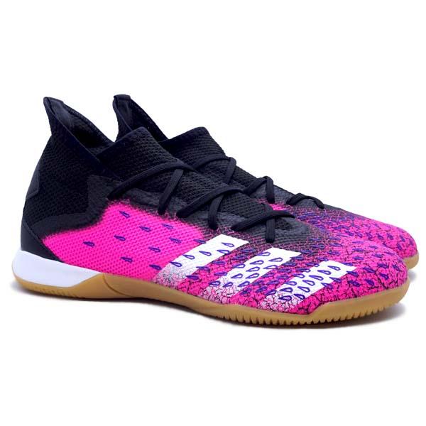 Sepatu Futsal Adidas Predator Freak .3 IN - Cblack/Ftwwht/Shopnk