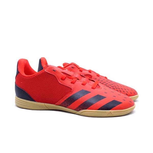 Sepatu Futsal Anak Adidas Predator Freak.4 IN Sala JR - Red/Cblack/Gum