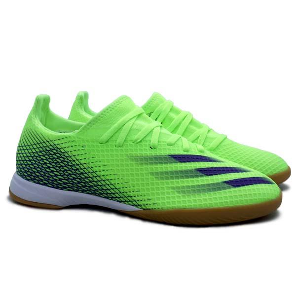 Sepatu Futsal Adidas X Ghosted.3 IN - Siggnr/Eneink