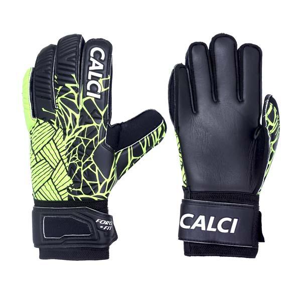Sarung Tangan Kiper Calci Venom GK Gloves - Black/Lime