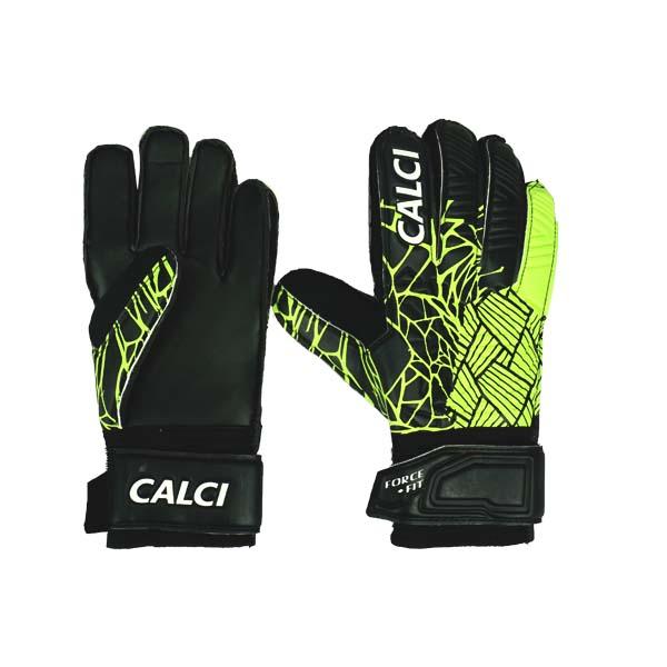 Sarung Tangan Kiper Anak Calci Venom GK Gloves JR - Black/Lime
