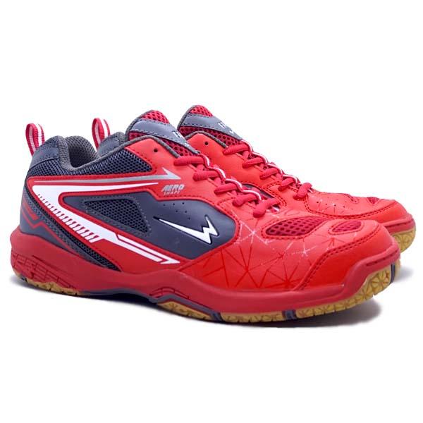 Sepatu Badminton Eagle Astro - Merah/Abu Tua