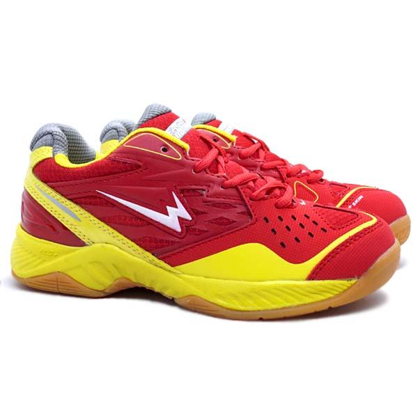 Sepatu Badminton Anak Eagle Caliber JR - Merah/Kuning