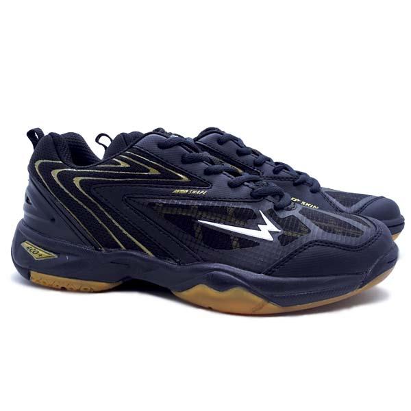 Sepatu Badminton Eagle Commando 2 - Hitam/Emas