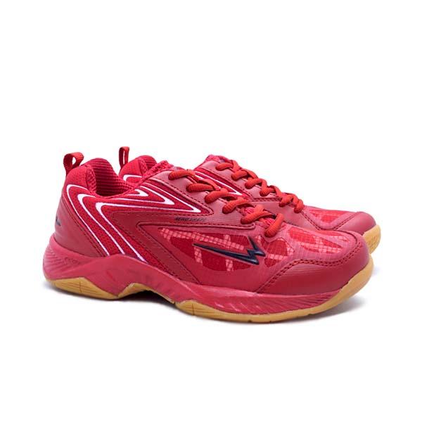 Sepatu Badminton Anak Eagle Commando 2 JR - Merah/Putih