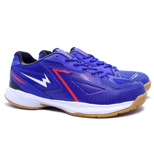 Sepatu Badminton Eagle Vibrant - Biru/Putih