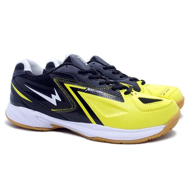 Sepatu Badminton Eagle Vibrant - Kuning/Hitam