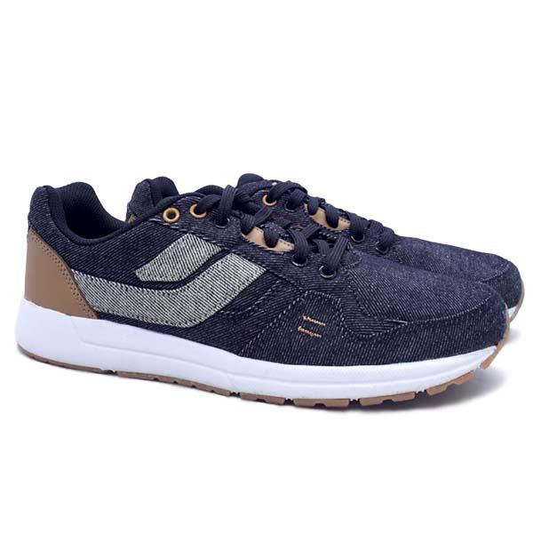 Sepatu Casual League Cruz Denim - Black/Almond/White