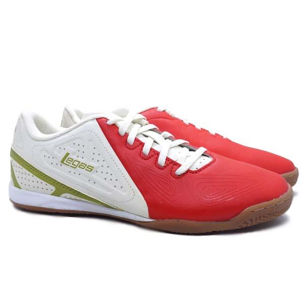 Sepatu Futsal Legas Defcon LA - Fiery Red/Star White/Burnish