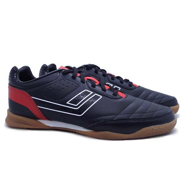 Sepatu Futsal Legas Meister LA - Black/Flame Scarlet/White