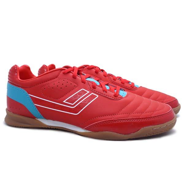 Sepatu Futsal Legas Meister LA - Fiery Red/Scuba Blue/White