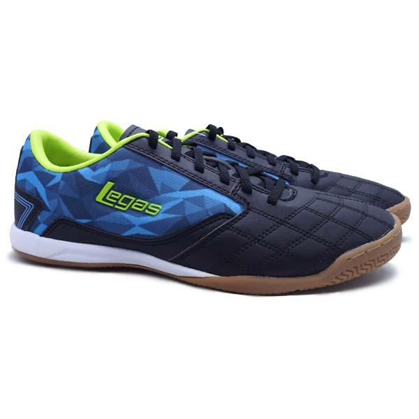 Sepatu Futsal Legas Tyra LA - Black/Aquarius/Lime Punch
