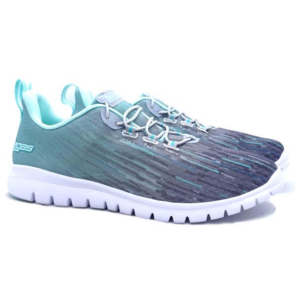 Sepatu Running Legas Fit LA W - Cool Gray 5U/Aruba Blue/Cera