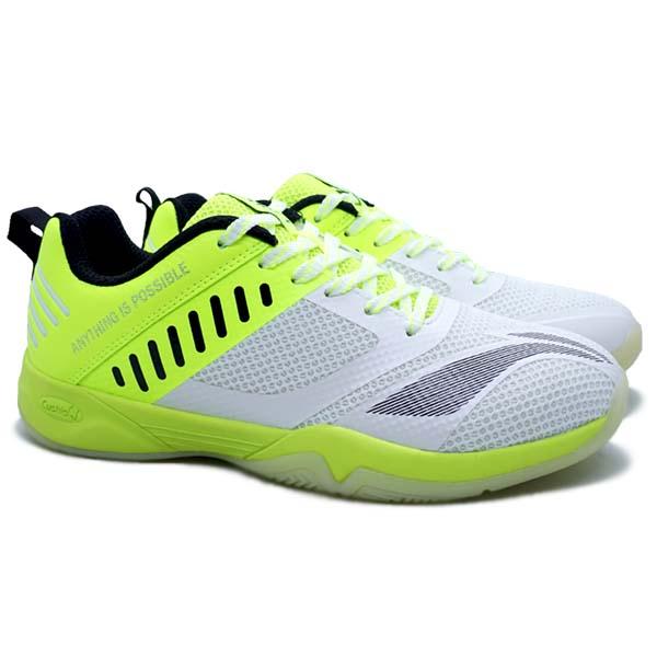 Sepatu Badminton Li-Ning Cloud Ace X - White/Lime