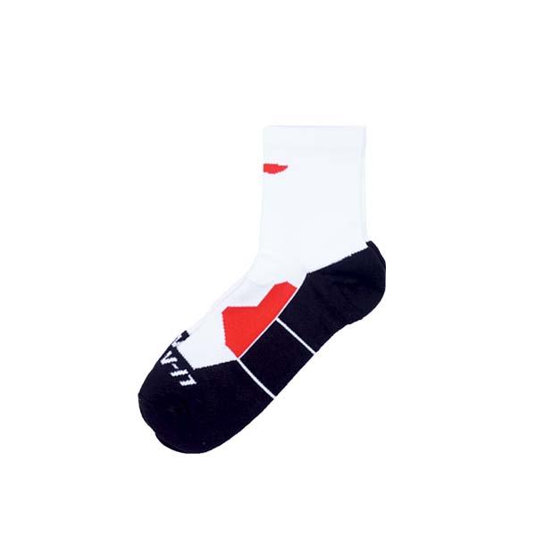 Kaos Kaki Li-Ning Quarter Socks AWLR121-3 - White/Black