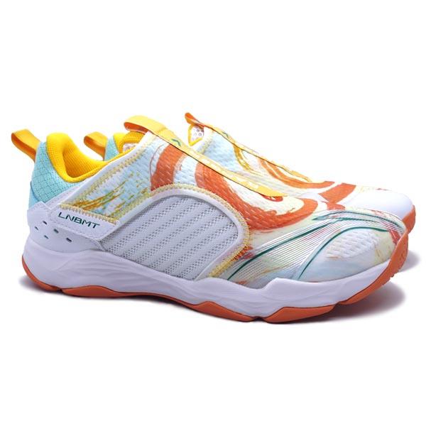 Sepatu Badminton Li-Ning Ranger V Lite AYTR003-1S - S White/Light Blue/Saffron