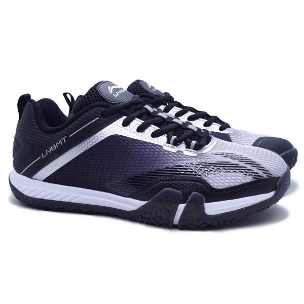Sepatu Badminton Li-Ning Saga Lite 3 AYTQ092-4 - Grey/Black