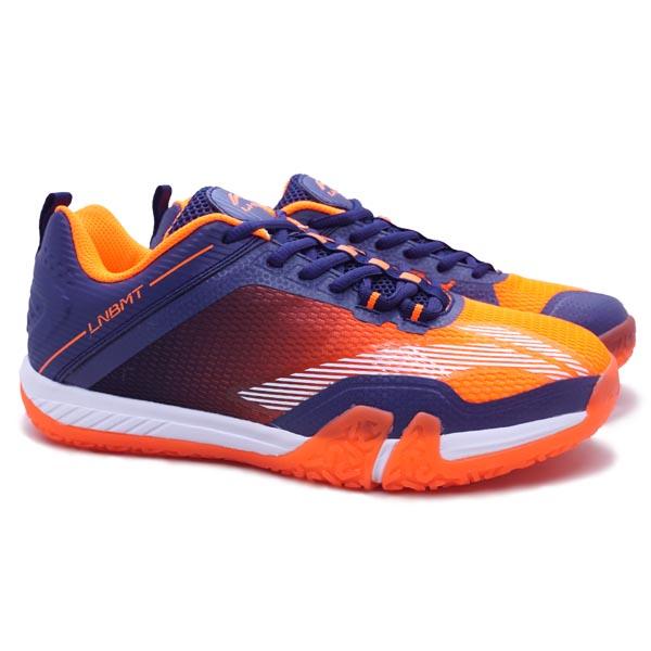 Sepatu Badminton Li-Ning Saga Lite 3 AYTQ092-2 - Orange/Navy