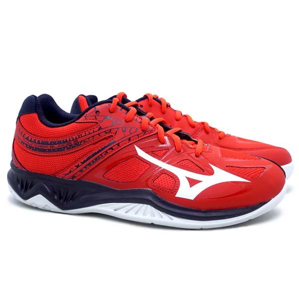 Sepatu Volley Mizuno Thunder Blade 2  - Fiery Red/White/Salute