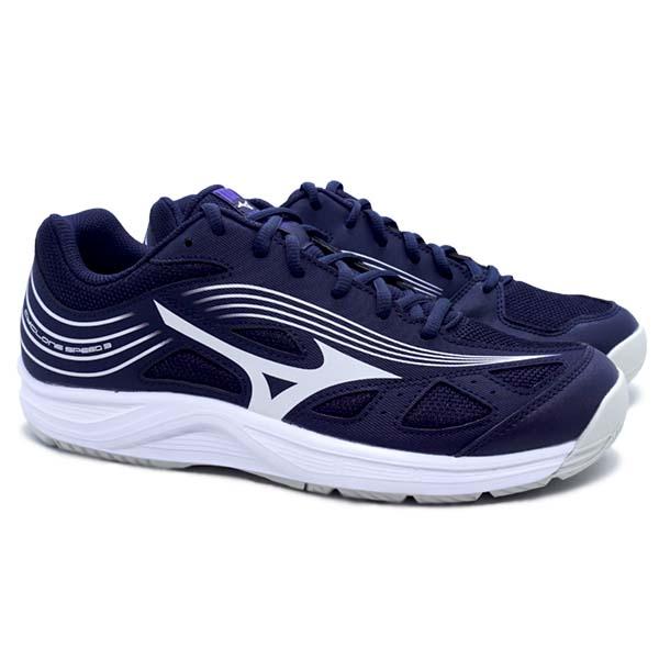 Sepatu Volley Mizuno Cyclone Speed 3 V1GA218002 - Skycaptain/Nimbus Cloud/Violet Blue