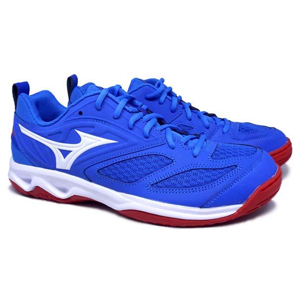 Sepatu Volley Mizuno Dynablitz V1GA212224 - French Blue/White/Fiery Red