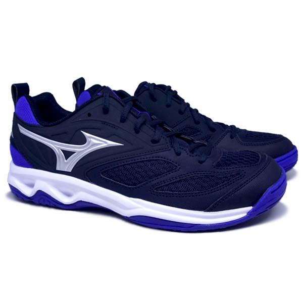 Sepatu Volley Mizuno Dynablitz V1GA212202 - Skycaptain/Galaxy Silver/Violet Blue