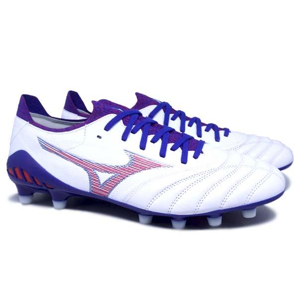 Sepatu Bola Mizuno Morelia Neo III B Elite - White/High Risk Red/280 C