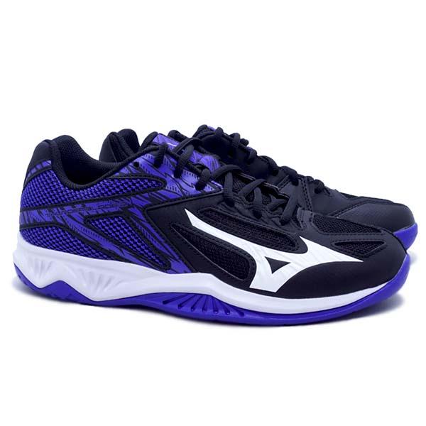 Sepatu Volley Mizuno Thunder Blade 3 V1GA217003 - Black/White/Violet Blue
