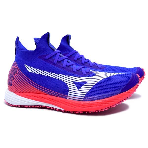 Sepatu Running Mizuno Wave Duel Neo - Reflex Blue C/White/Diva Pink