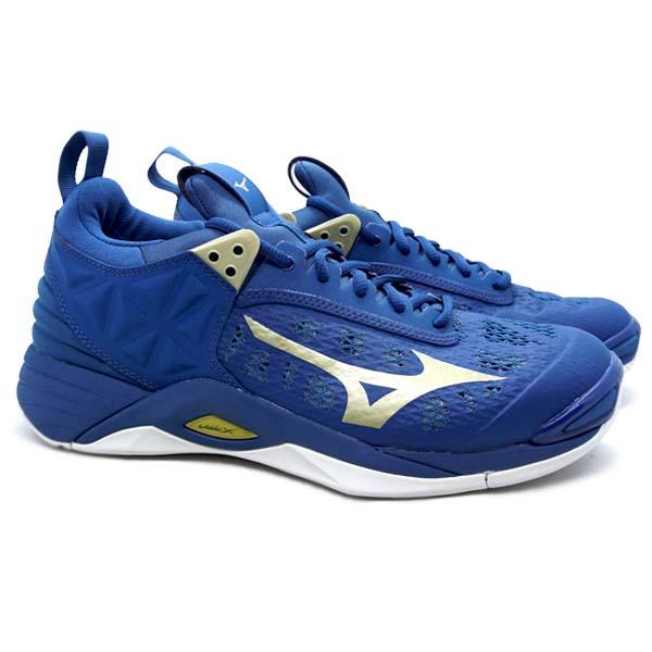 Sepatu Volley Mizuno Wave Momentum - True Blue/10249 C/White