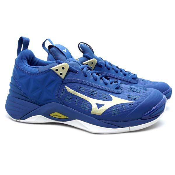 Sepatu Volley Mizuno Wave Momentum - Hydro/Legion Blue