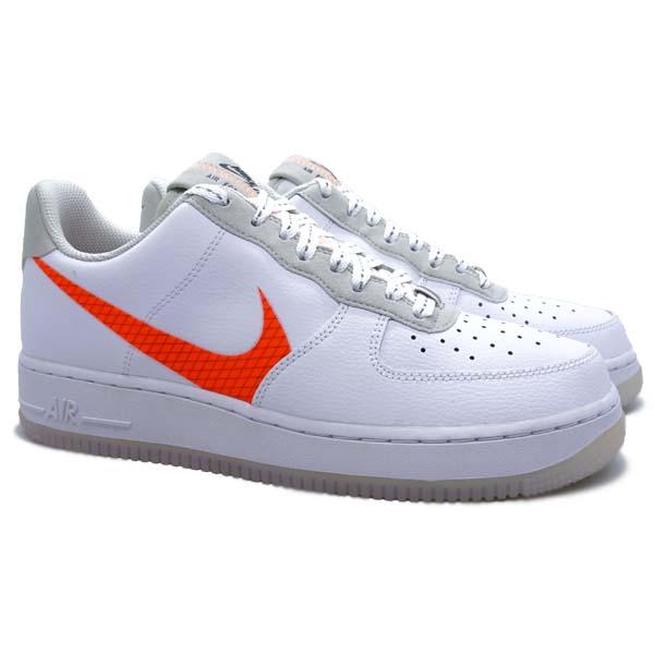 Sepatu Casual Nike Air Force 1 '07 LV8 3 - White/Orange