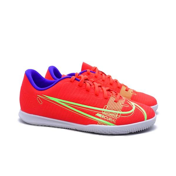Sepatu Bola Anak Nike JR Vapor 14 Club IC - Bright Crimson/Metallic Silver