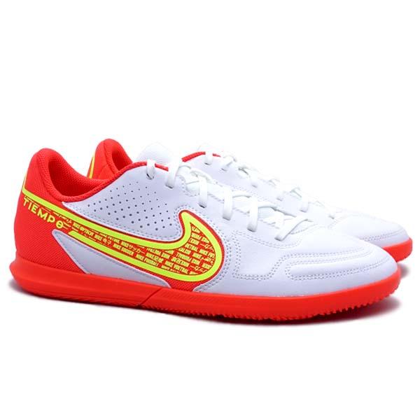 Sepatu Futsal Nike Legend 9 Club IC DA1189 176 - White/Volt Bright Crimson