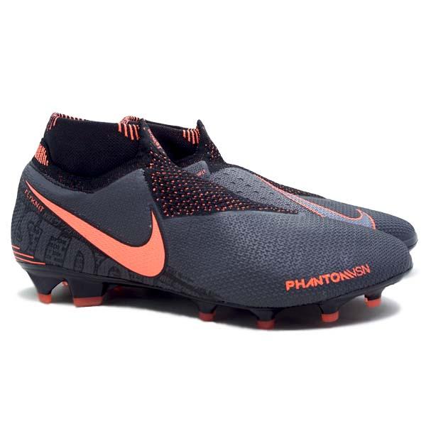 Sepatu Bola Nike Phantom VSN Elite DF FG - DarkGrey/Mango
