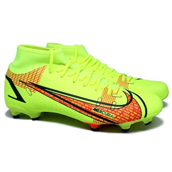 Sepatu Bola Nike Superfly 8 Academy FG CV0843 760 - Volt/Black/Bright Crimson