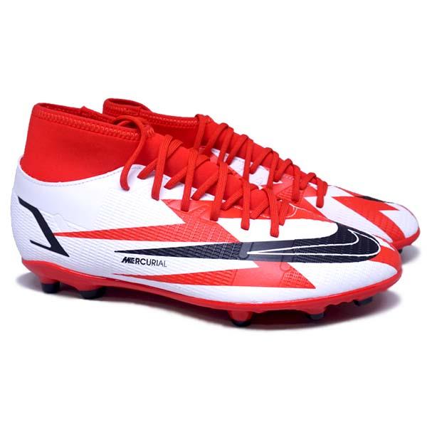 Sepatu Bola Nike Superfly 8 Club CR7 FG DB2855 600 - Chile Red/Black/White