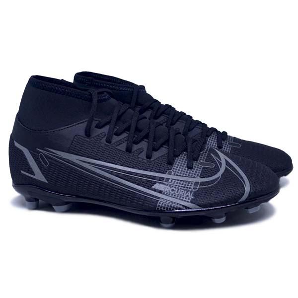 Sepatu Bola Nike Superfly 8 Club FG CV0852 004 - Black/Black/Iron Grey