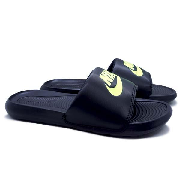 Sandal Nike Victori One Slide - Black/Volt Black