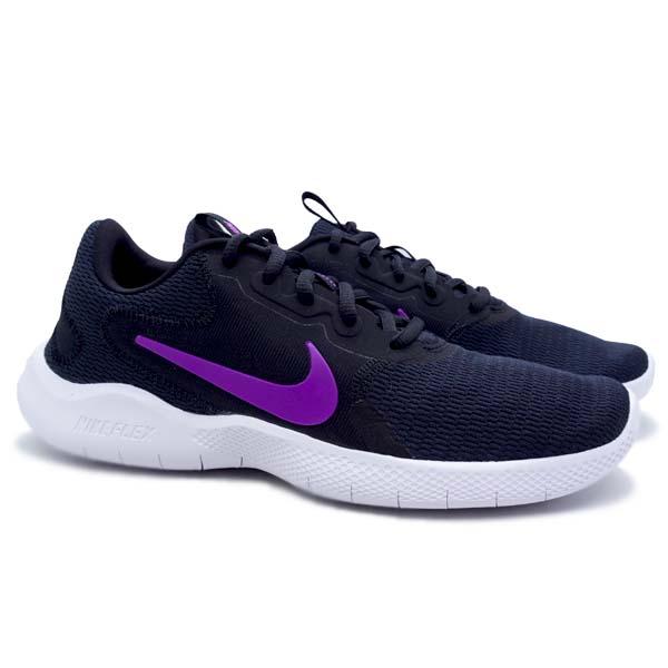 Sepatu Running Nike W Flex Experience RN9 - Black/VividPrple
