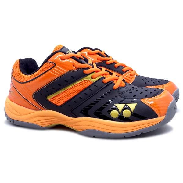 Sepatu Badminton Yonex AE 20 - Pearlized Black/Bright Orange