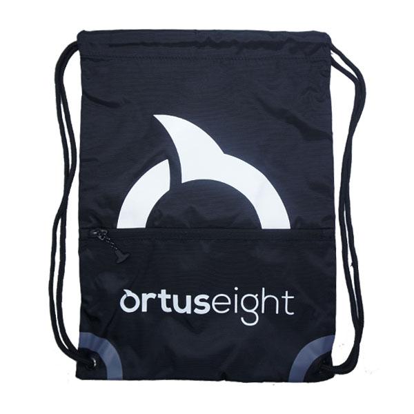Tas Ortuseight String Bag - Black/White