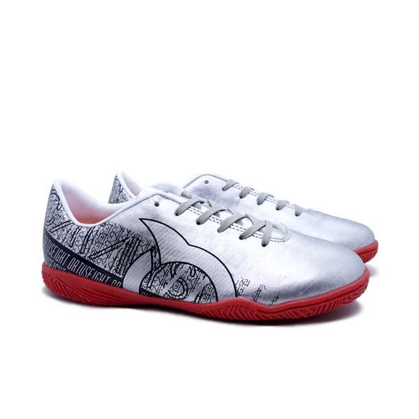 Sepatu Futsal Anak Ortuseight Catalyst Cypher IN JR - Silver/Black/Ortd